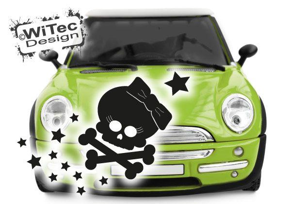 Autoaufkleber Skull Totenkopf Sterne