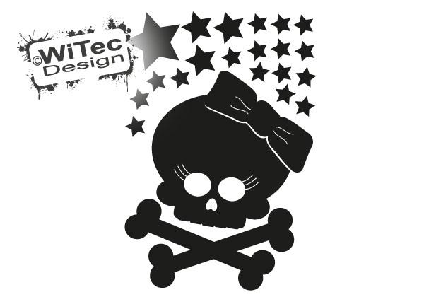 Skull Sterne Autoaufkleber