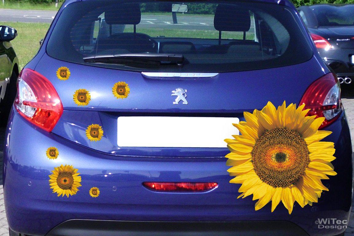 Auto Aufkleber Sonnenblume Blumen Autoaufkleber Sticker