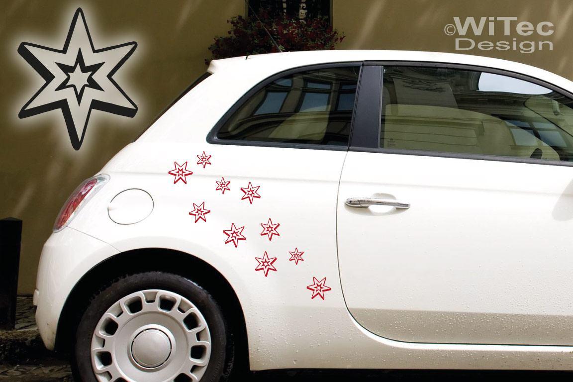 Auto Aufkleber Sterne Set 3D Style Auto Aufkleber Sticker
