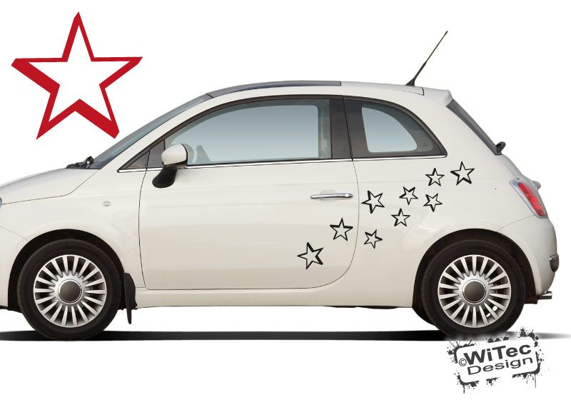 Autoaufkleber Sterne 3D style Auto Aufkleber Set