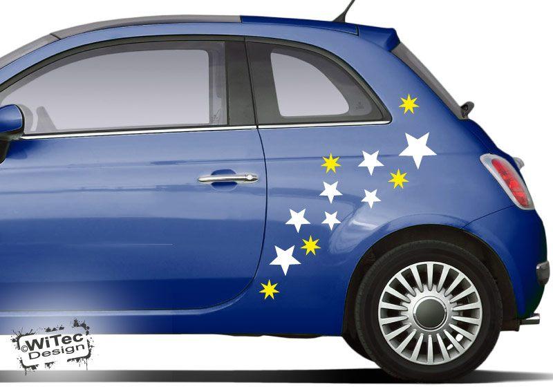 Autoaufkleber Sterne Set Auto Aufkleber Stars