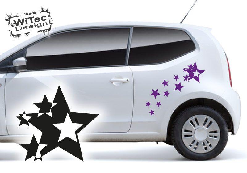 Autoaufkleber Sterne Aufkleber Set Auto
