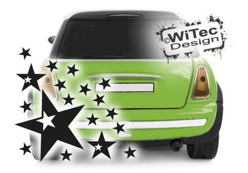 Autoaufkleber Sterne SET Auto Aufkleber Sticker