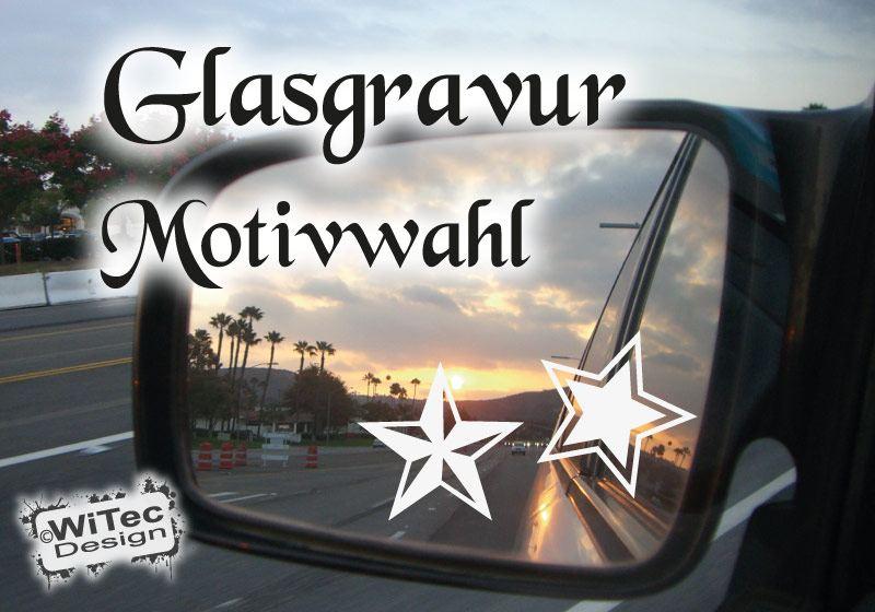 Sterne Glasgravur Autoaufkleber Spiegelaufkleber