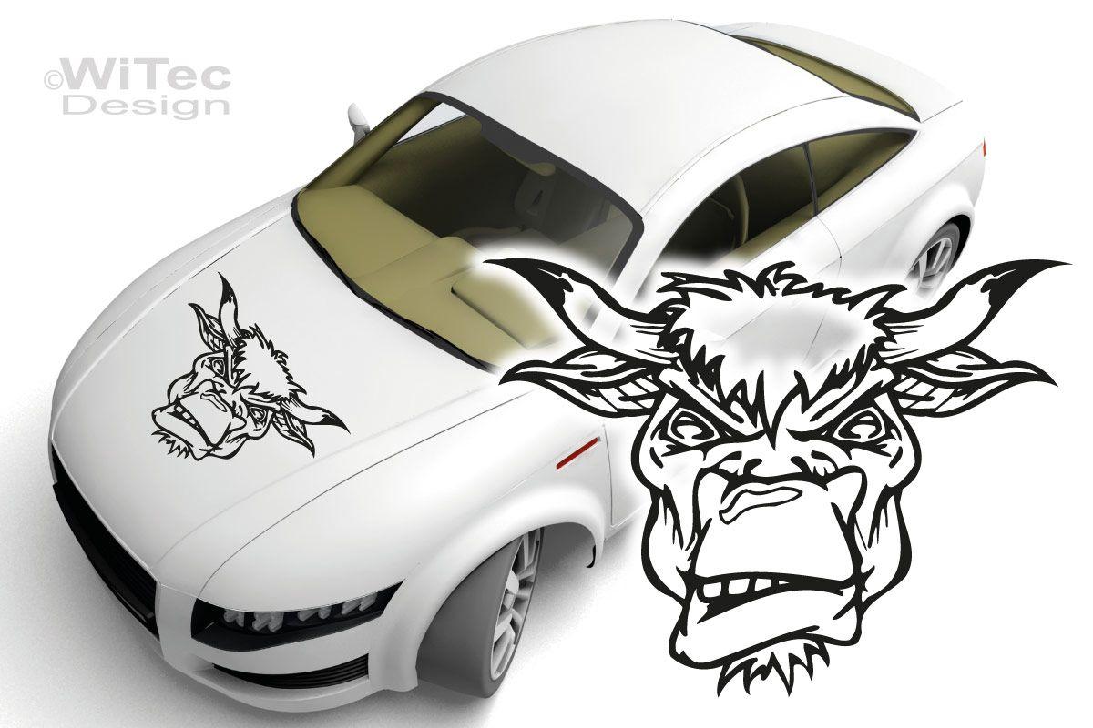 Autoaufkleber Stier Bull Bullhead Auto Aufkleber Motorhaube
