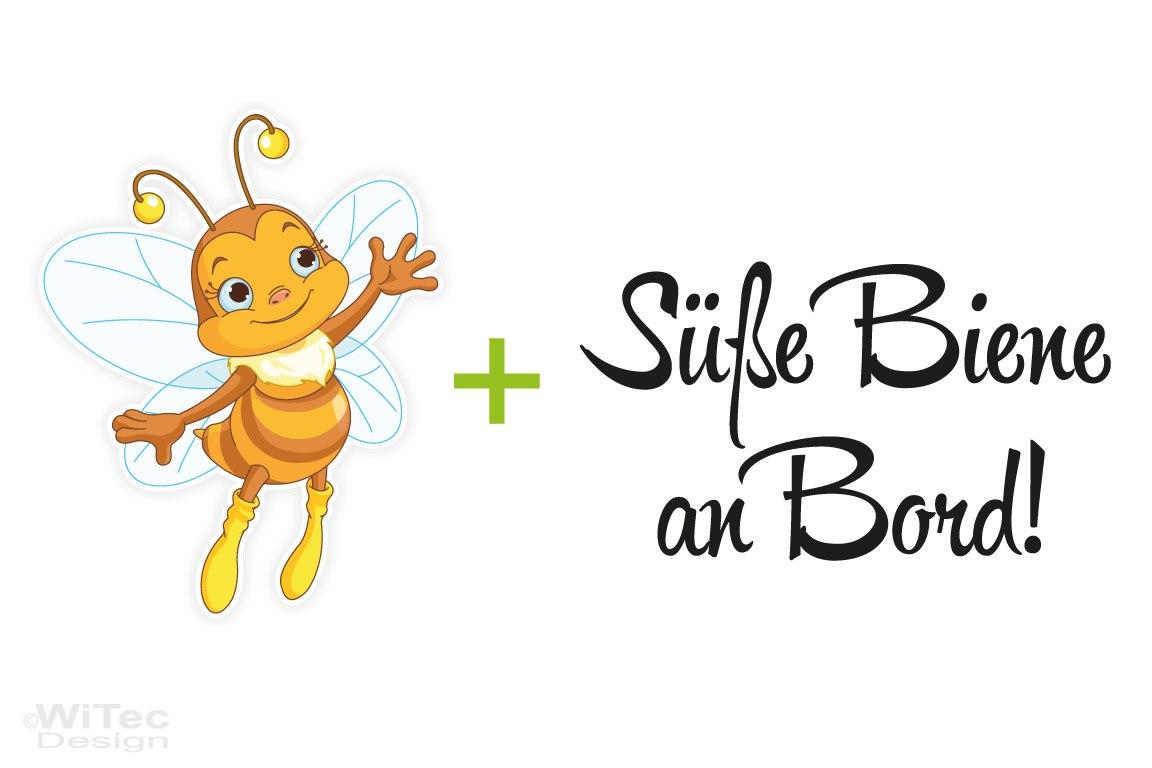 Aufkleber Süße Biene an Bord Autoaufkleber Wespe