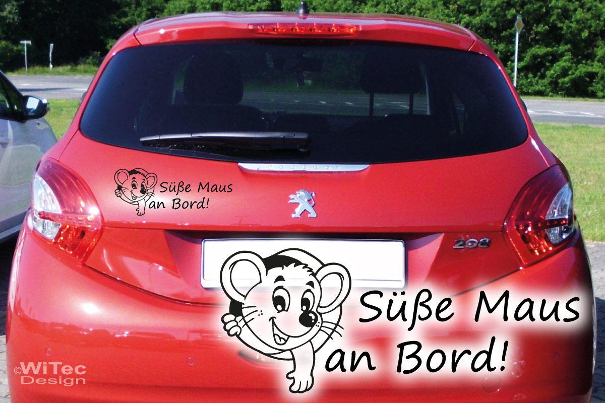 Süße Maus an Bord Auto Aufkleber Sticker Tattoo