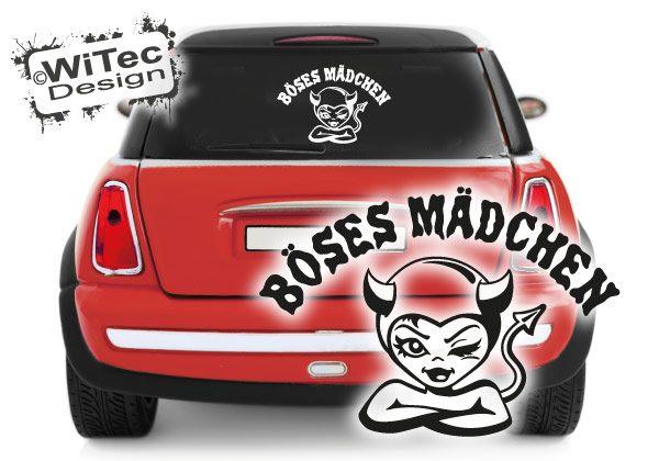 Autoaufkleber Böses Mädchen Teufel Auto Aufkleber