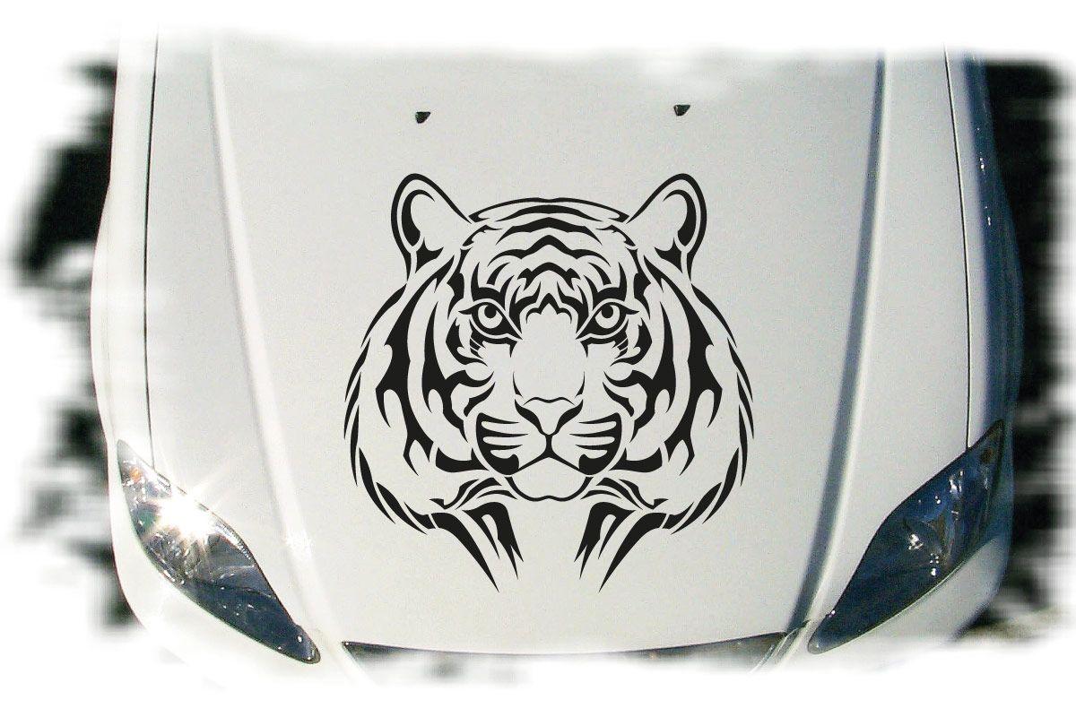Tiger Tigerkopf Auto Aufkleber Motorhaube