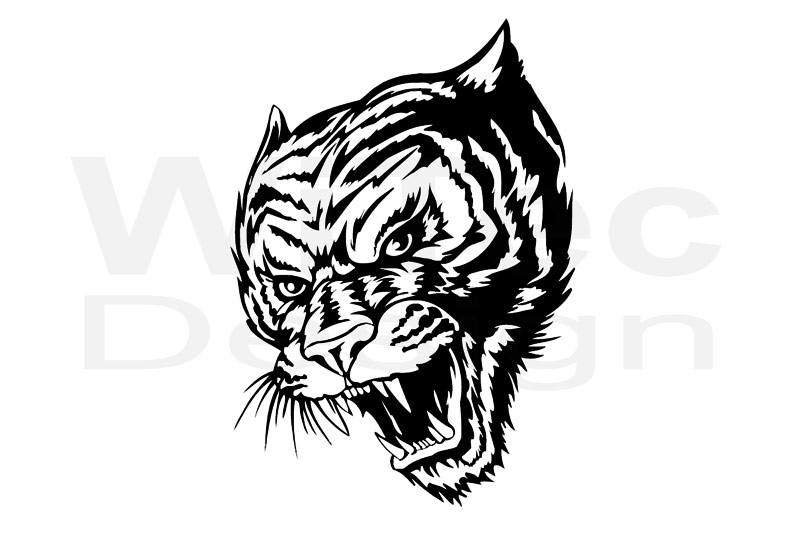 Autoaufkleber Tiger Tigerkopf Auto Aufkleber Sticker