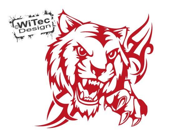 Autoaufkleber Tiger Tribal Auto Aufkleber Motorhaube