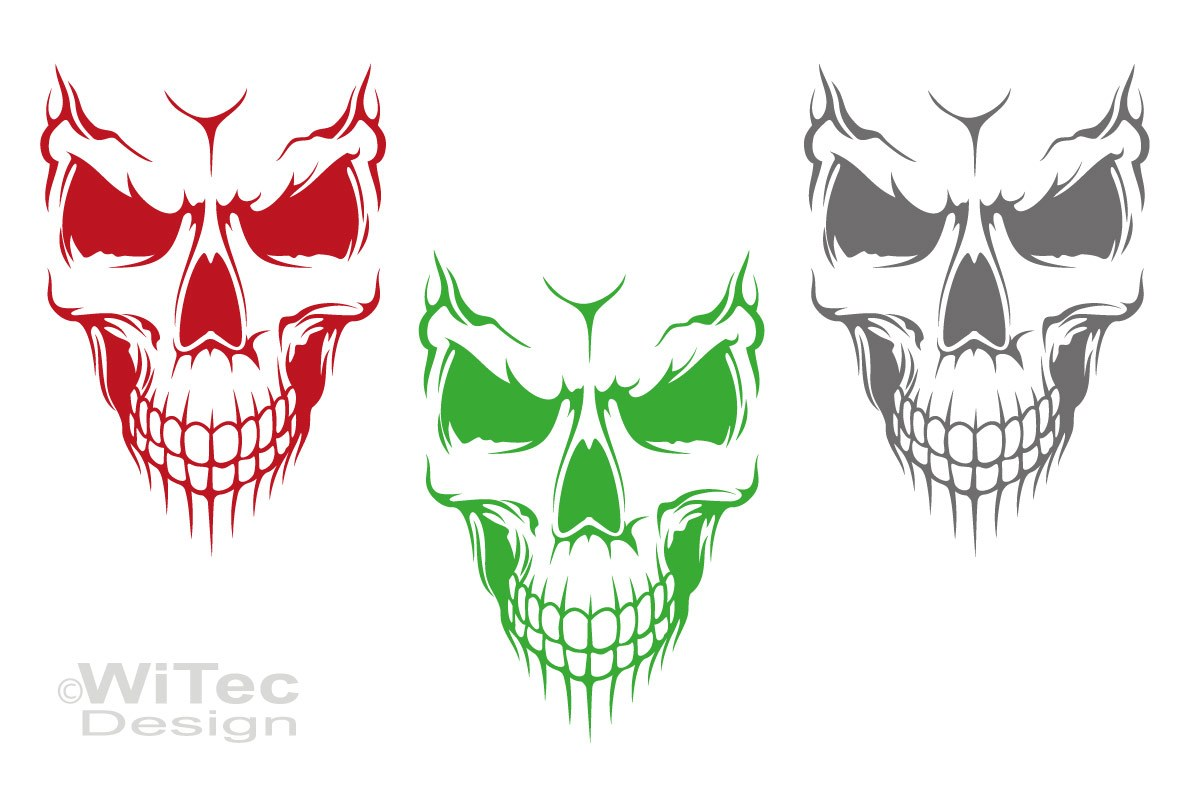 Auto Aufkleber Skull Totenkopf Skelett Autoaufkleber Motorhaube Tattoo