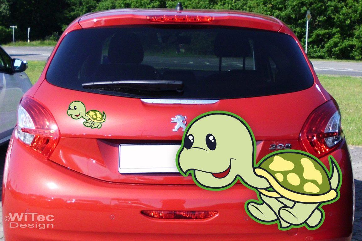 Auto Aufkleber Schildkröte Turtle Autoaufkleber Sticker