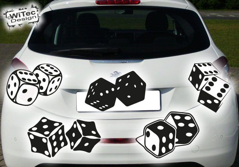 Würfel Aufkleber Autoaufkleber sticker decal dice