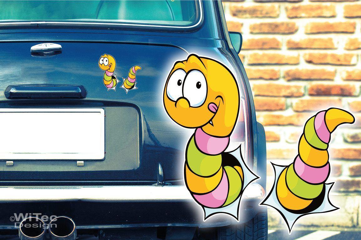 Autoaufkleber Lustiger Wurm Auto Aufkleber Digitaldruck