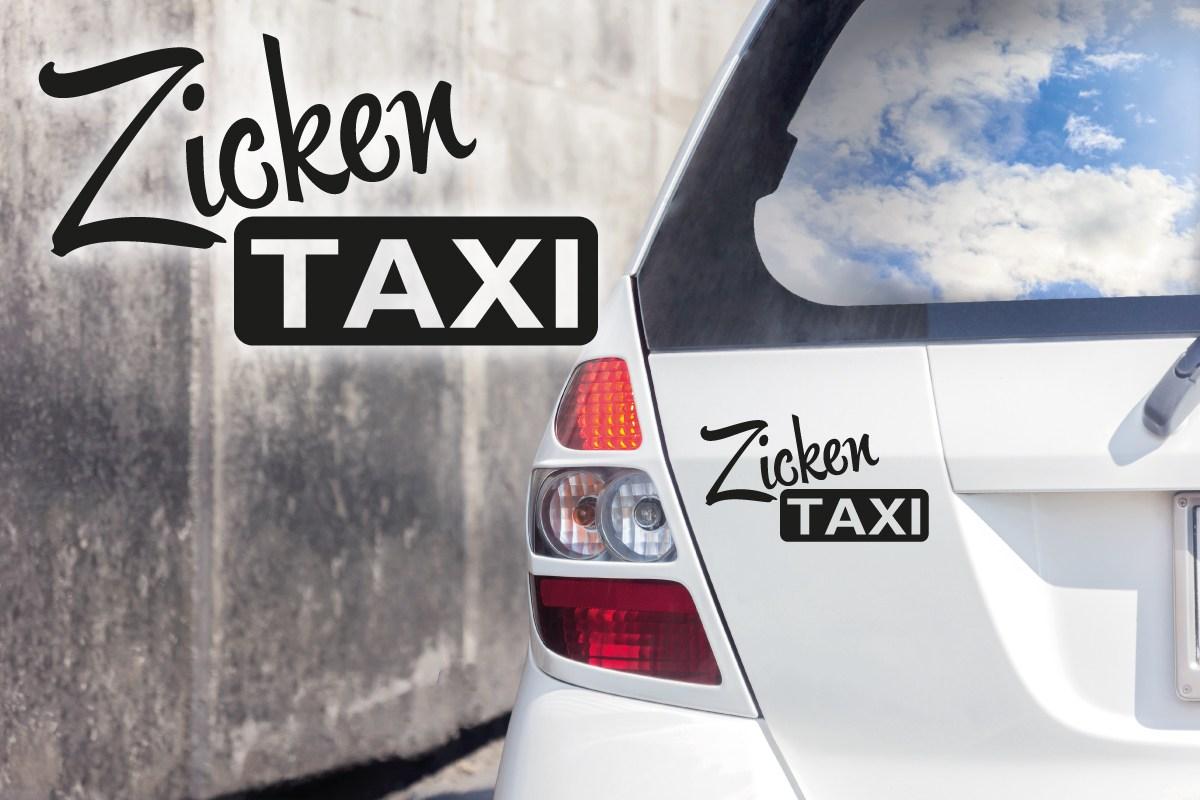 Autoaufkleber Zicken Taxi Auto Aufkleber Zickentaxi