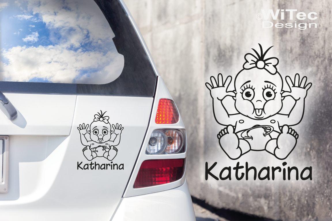 Babyaufkleber Mädchen Wunschname Auto Aufkleber Tattoo
