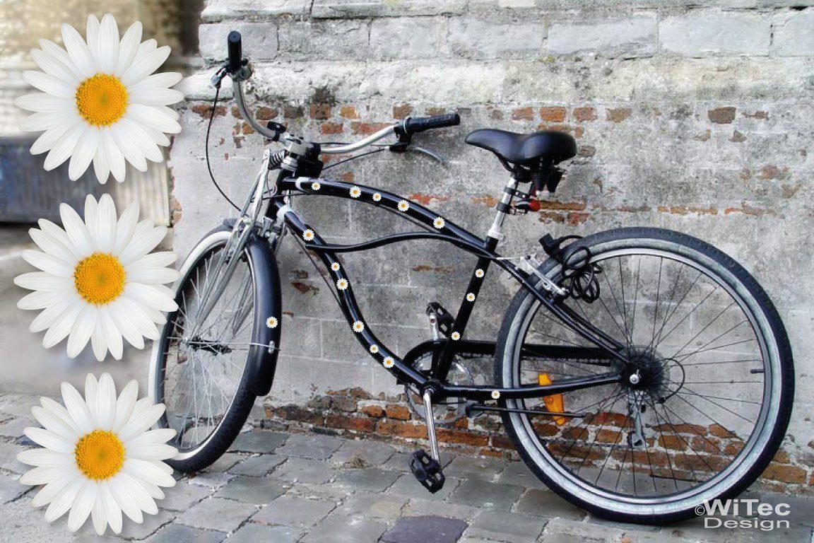 fahrrad aufkleber margeriten blumen set abc. Black Bedroom Furniture Sets. Home Design Ideas