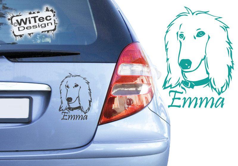 Afghanischer Windhund Afghane Hundaufkleber Autoaufkleber