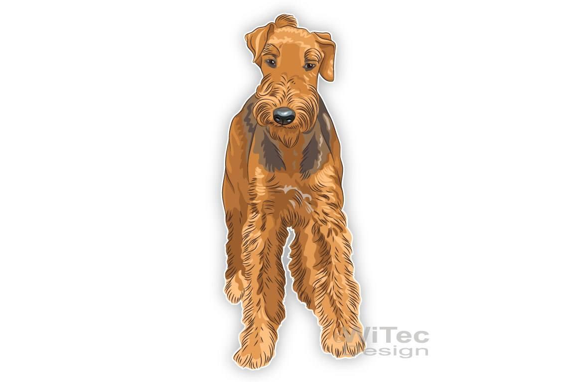 Hundeaufkleber Airedale Terrier Autoaufkleber Sticker