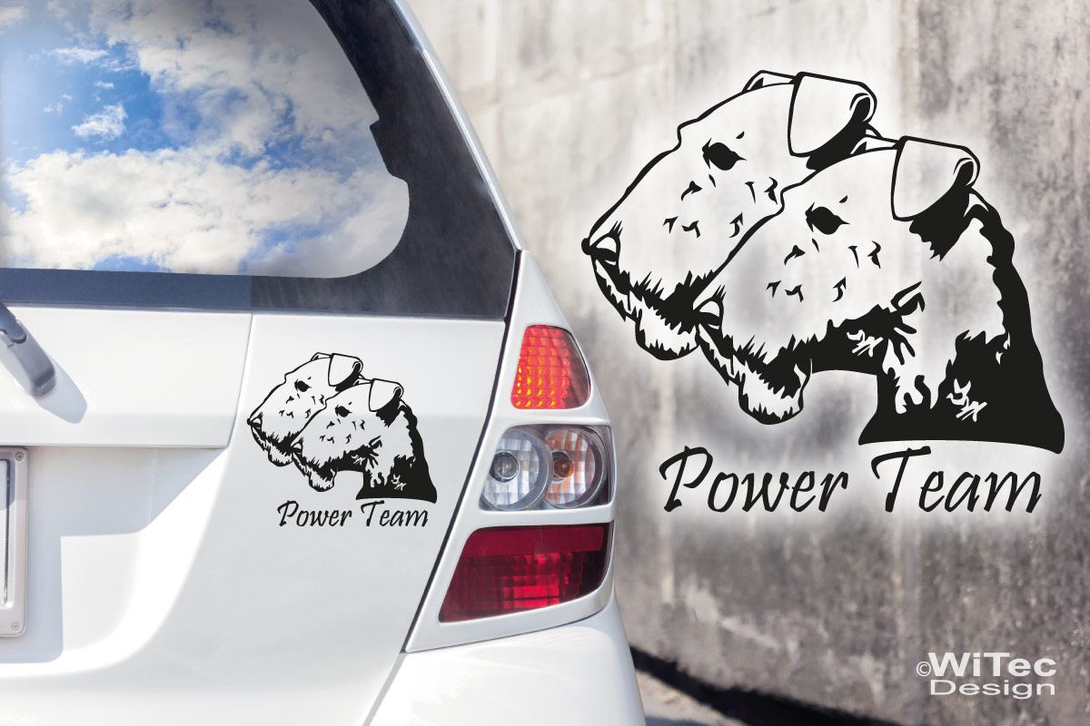 Hundeaufkleber Airedale Terrier Wunschname Aufkleber Autoaufkleber