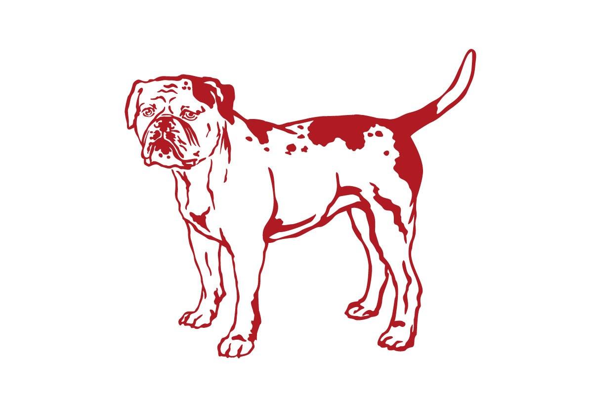 Hundeaufkleber American Bulldog Aufkleber Sticker