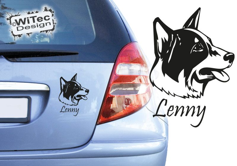 Australian Cattle Dog Autoaufkleber Blue Heeler Aufkleber Hundeaufkleber