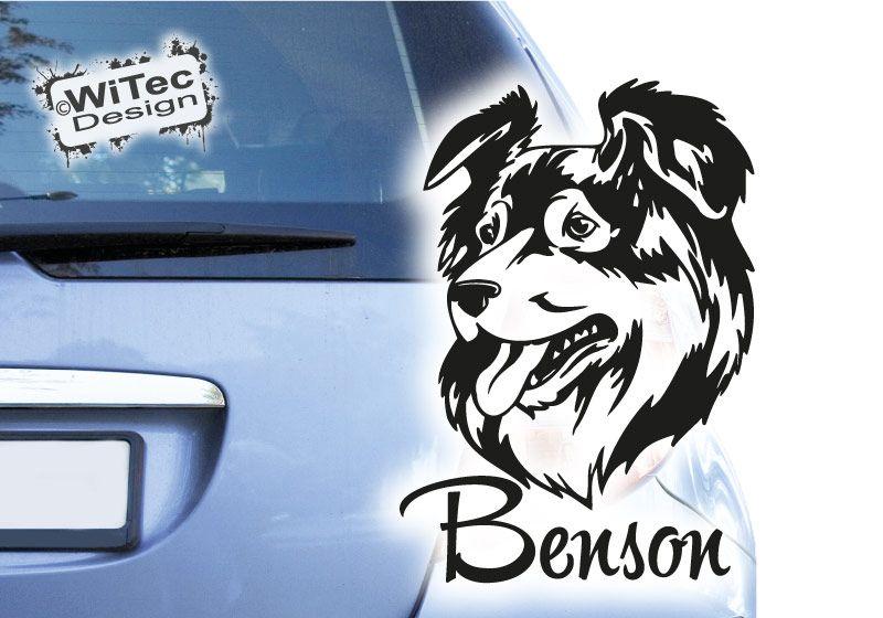 Hundeaufkleber Australian Shepherd Autoaufkleber Hunde