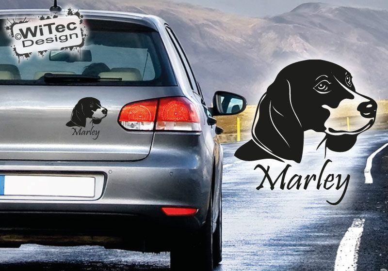 Beagle Autoaufkleber Hundename Aufkleber Hundeaufkleber