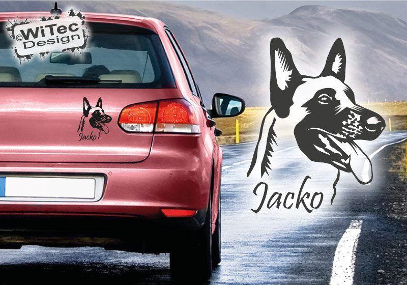 Belgischer Malinois Name Auto Aufkleber Autoaufkleber Hund