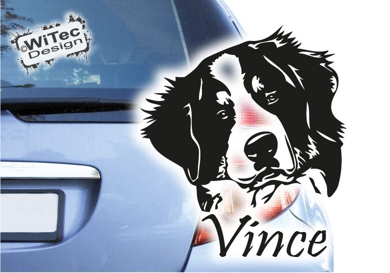 Autoaufkleber Hunde Berner Sennenhund Name Hundeaufkleber