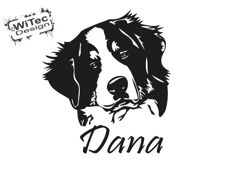 Hundeaufkleber Berner Sennenhund Name