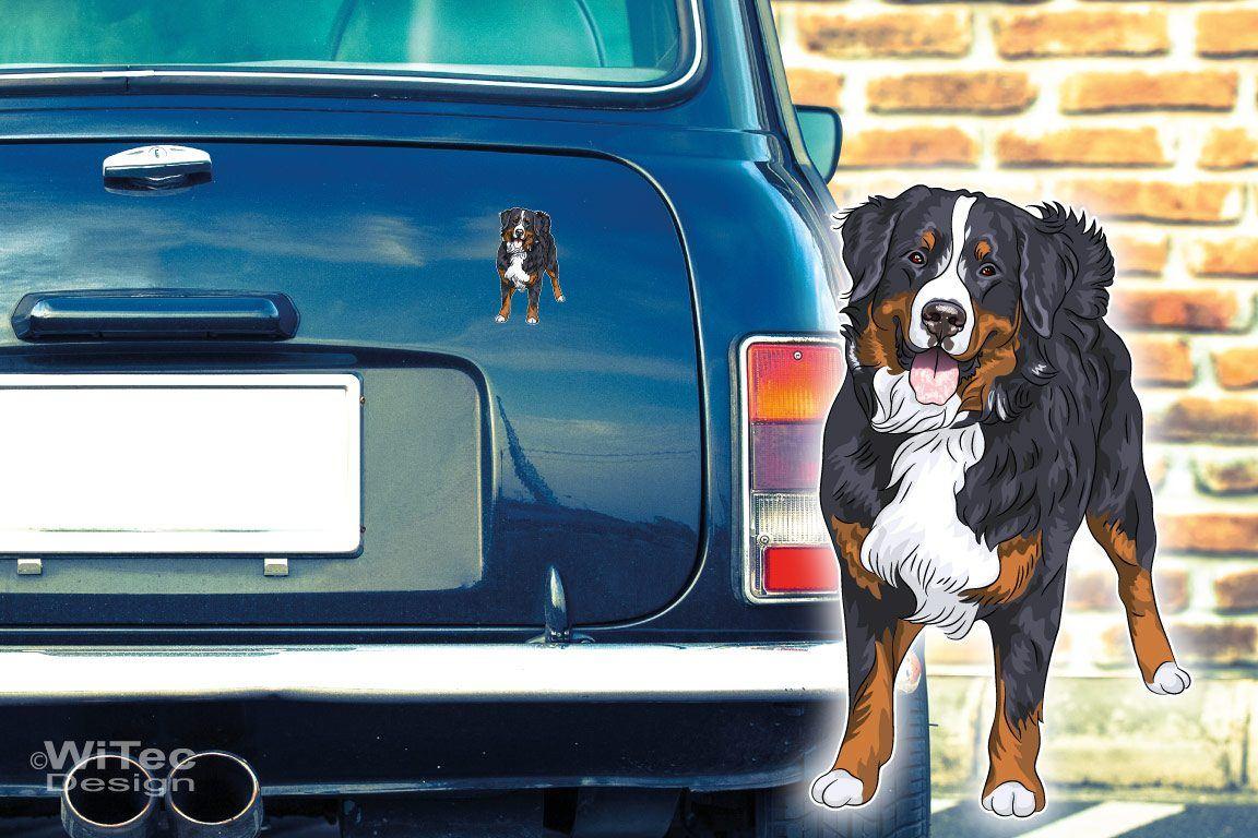 Hundeaufkleber Berner Sennenhund Autoaufkleber Sticker