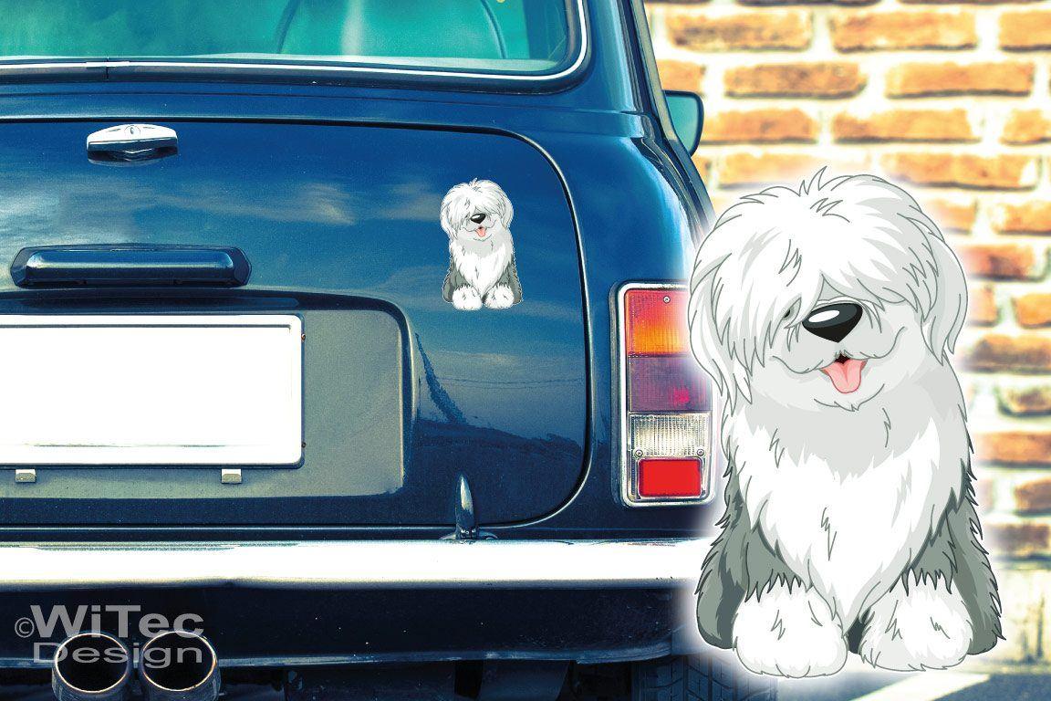Bobtail Auto Aufkleber Hundeaufkleber Pfoten Hundesticker