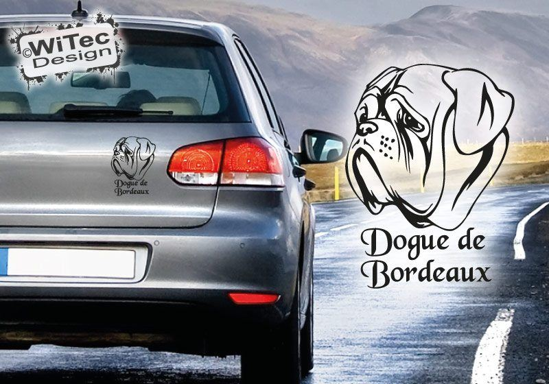 Bordeaux Dogge Autoaufkleber Name Auto Aufkleber Hundeaufkleber