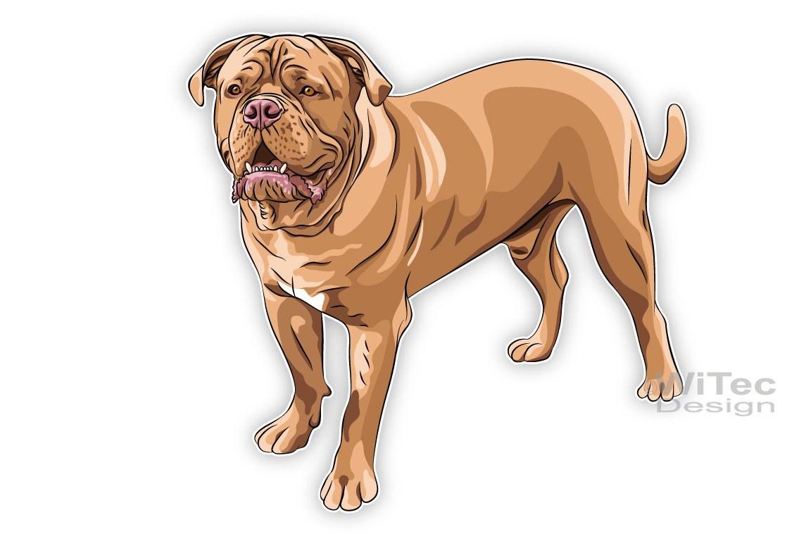 Hundeaufkleber Bordeaux Dogge Autoaufkleber Sticker