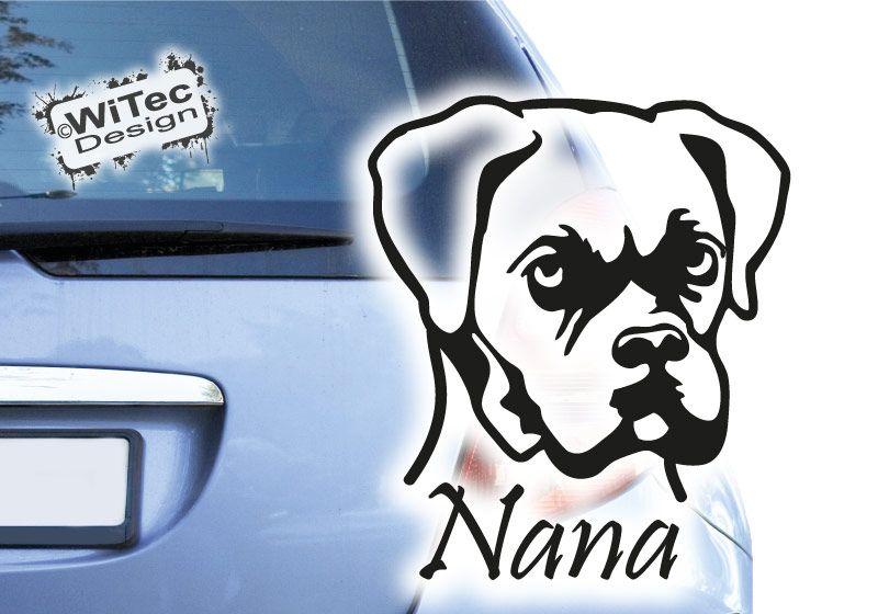 Hundeaufkleber Boxer Autoaufkleber Hunde