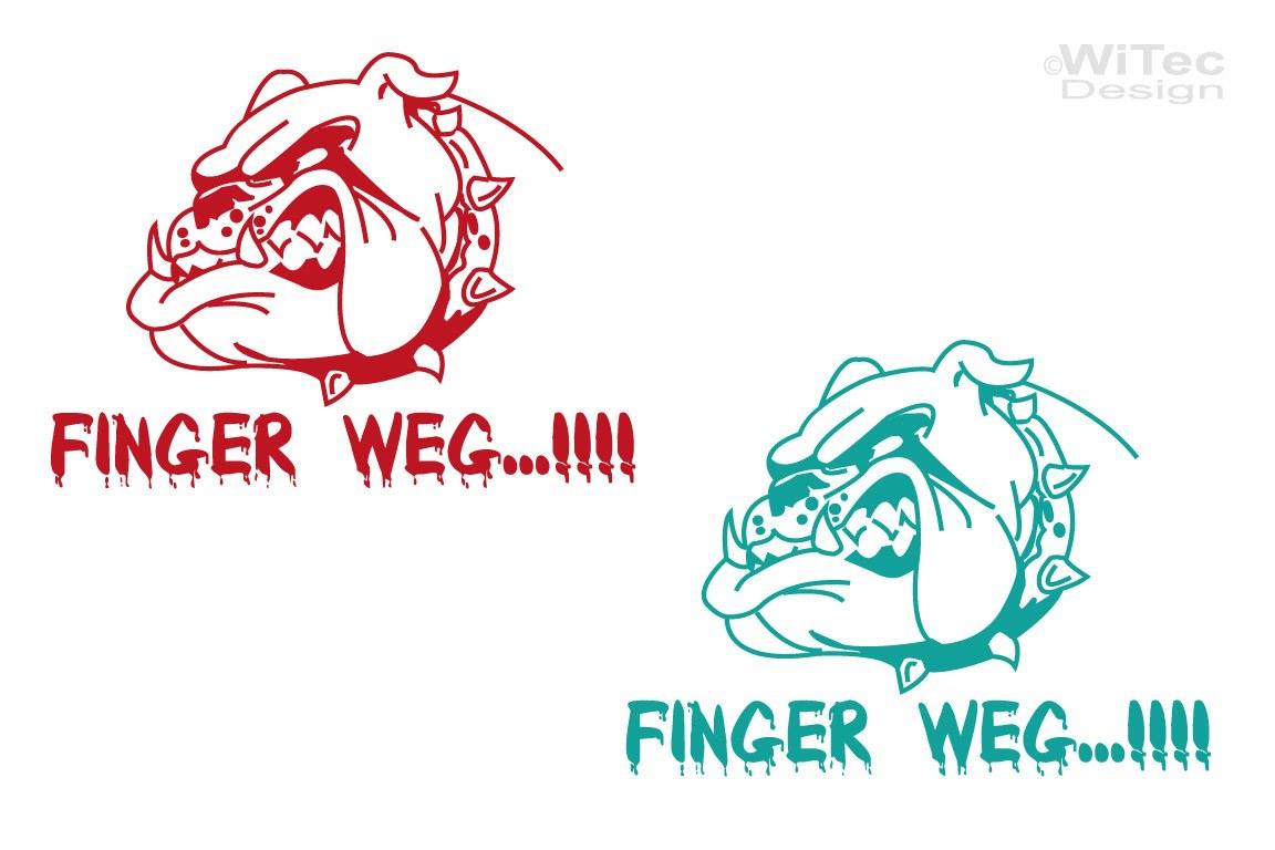 FINGER WEG ! Bulldogge Aufkleber Autoaufkleber Fun