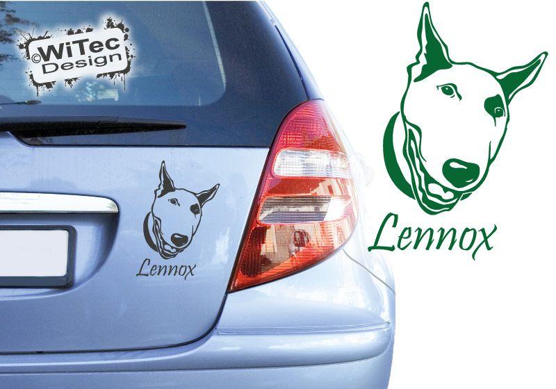 Bullterrier Autoaufkleber Name Auto Aufkleber Hundeaufkleber