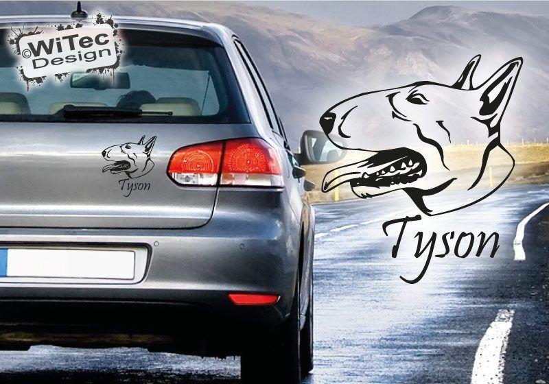 Bull Terrier Autoaufkleber Auto Aufkleber Bullterrier Hund Hundeaufkleber
