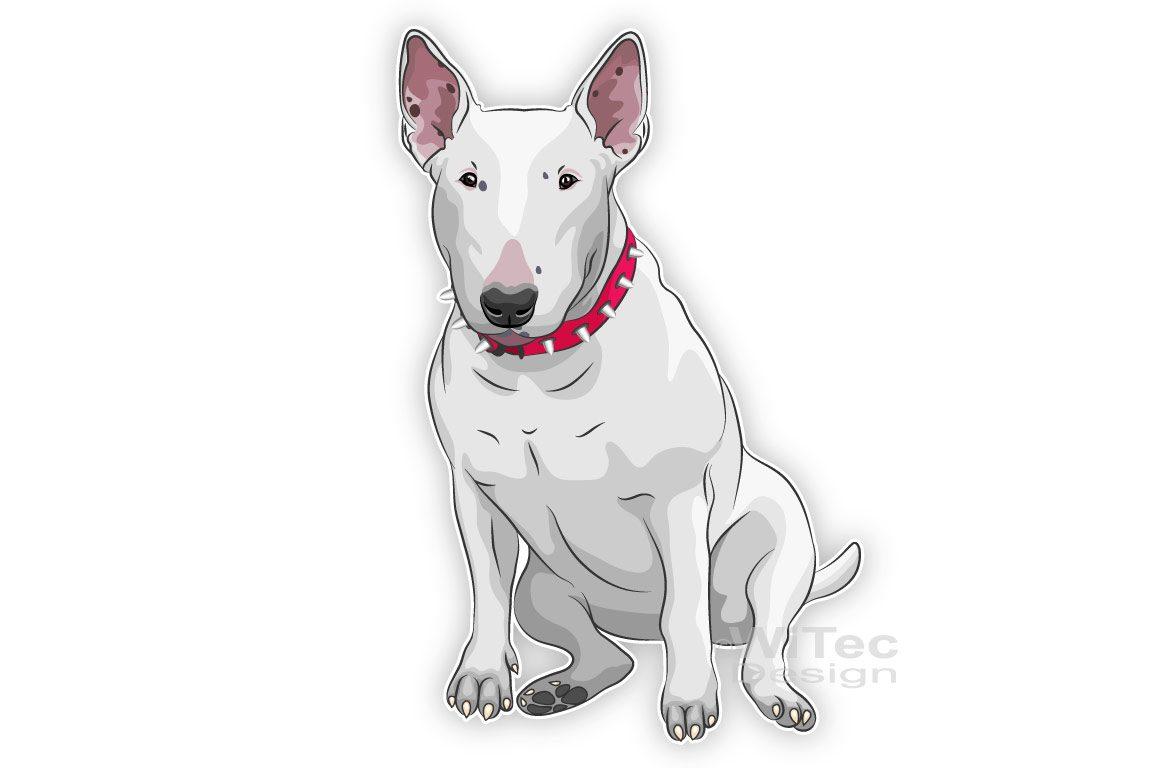 Hundeaufkleber Bull Terrier Autoaufkleber Sticker
