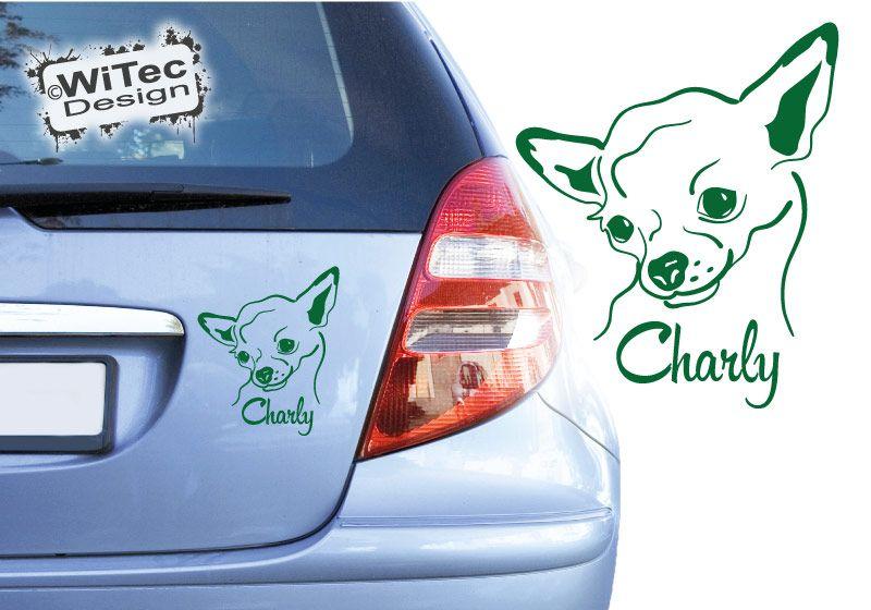 Chihuahua Autoaufkleber Chiwawa Aufkleber Hunde Rassehunde