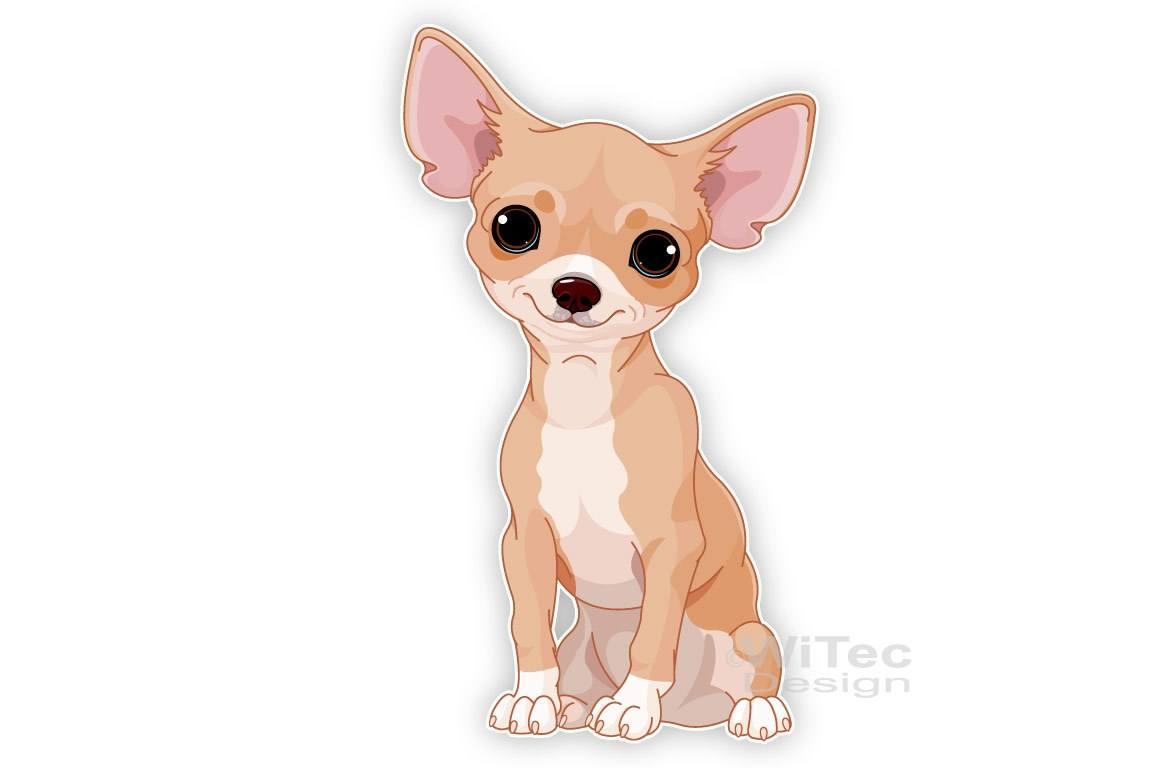 Chihuahua Hundeaufkleber Autoaufkleber Sticker