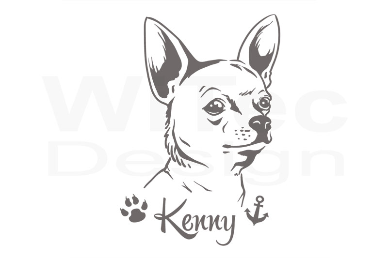 Hundeaufkleber Chihuahua Autoaufkleber Pfote Aufkleber