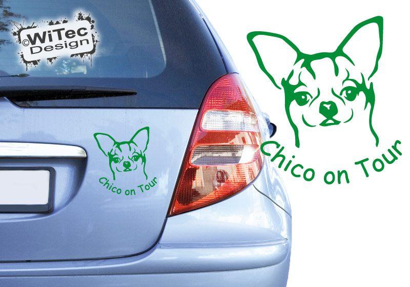 Chihuahua Autoaufkleber Name Auto Aufkleber Hundeaufkleber