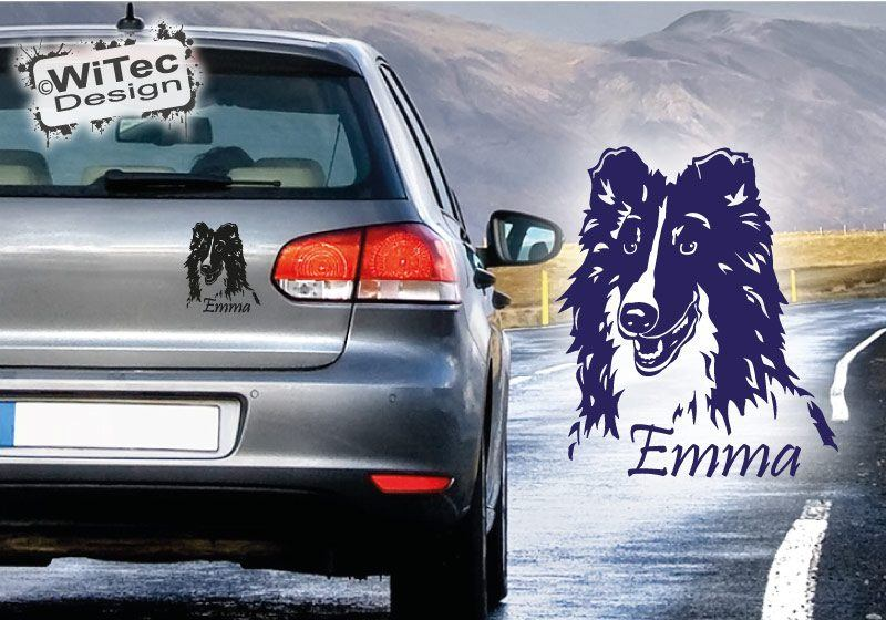 Autoaufkleber Collie Aufkleber Hundeaufkleber