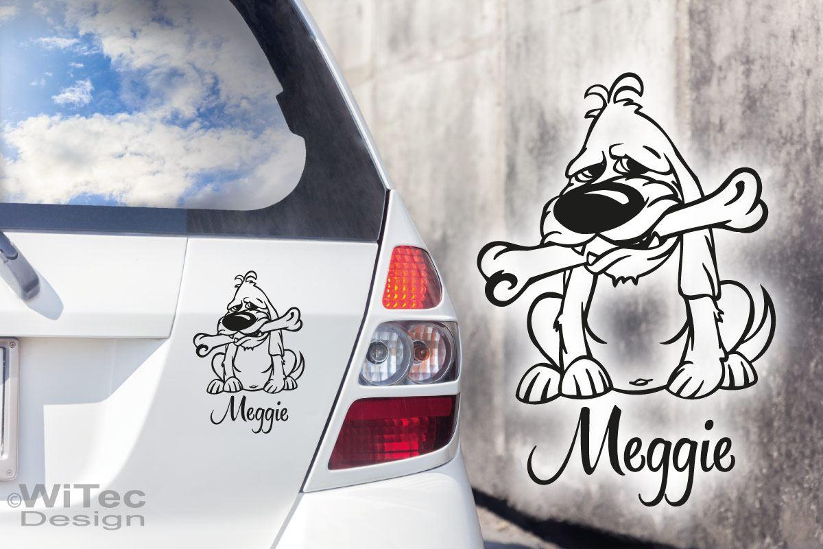 Hundeaufkleber Hund Name Aufkleber Hundesticker
