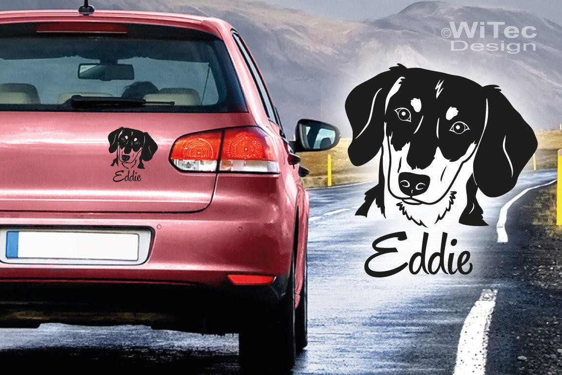 Hundeaufkleber Dackel Auto Aufkleber Name Hunde Tattoo