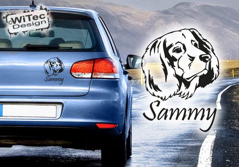 Deutsch Langhaar Autoaufkleber Wunschname Hundeaufkleber